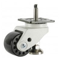 75mm Swivel Castor Extra Heavy Duty with M16x60L Adjustable Foot, 700kg Load Rating