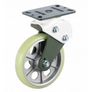 200mm Swivel Castor (Plate), Polyurethane Tyre wheel, Ball bearing, 400kg