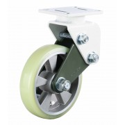 250mm Fixed Castor (Plate), Polyurethane Tyre wheel, Ball bearing, 1000kg