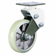 250mm Swivel Castor (Plate), Polyurethane Tyre wheel, Ball bearing, 1000kg
