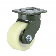 100mm Swivel Castor (Plate), Polyurethane Tyre wheel, Ball bearing, 600kg