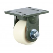 125mm Fixed Castor (Plate), Nylon wheel, Ball bearing, 1500kg