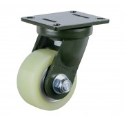 150mm Swivel Castor (Plate), Polyurethane Tyre wheel, Ball bearing, 1500kg