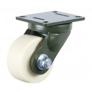 150mm Swivel Castor (Plate), Nylon wheel, Ball bearing, 2200kg